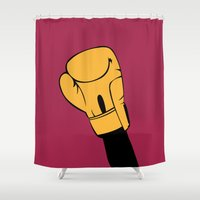 rocky Shower Curtains featuring Rocky by FilmsQuiz