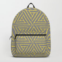 Aztec Tribal Triangle Pattern V2 Pantone 2021 Color Of The Year Illuminating and Ultimate Gray  Backpack