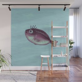 Funny Fish With Fancy Eyelashes Wall Mural