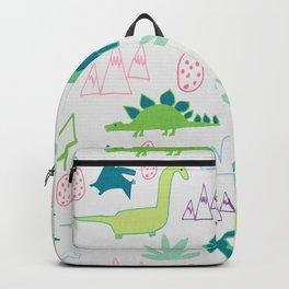 Dino Fun land Grey Backpack