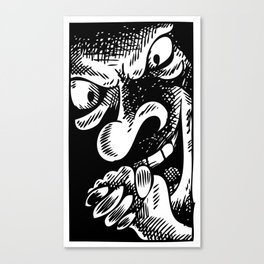 The face of Evil Canvas Print