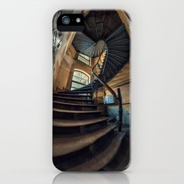 Old forgotten staircase iPhone Case