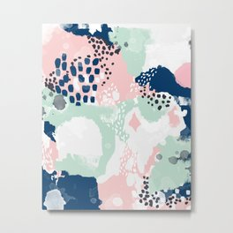 Kimmie - abstract painting modern hipster trendy urban city painterly boho home college dorm decor  Metal Print