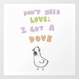 Loveless Dove Art Print