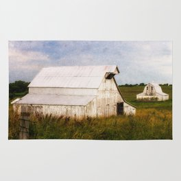White Barn in the Fields Rug