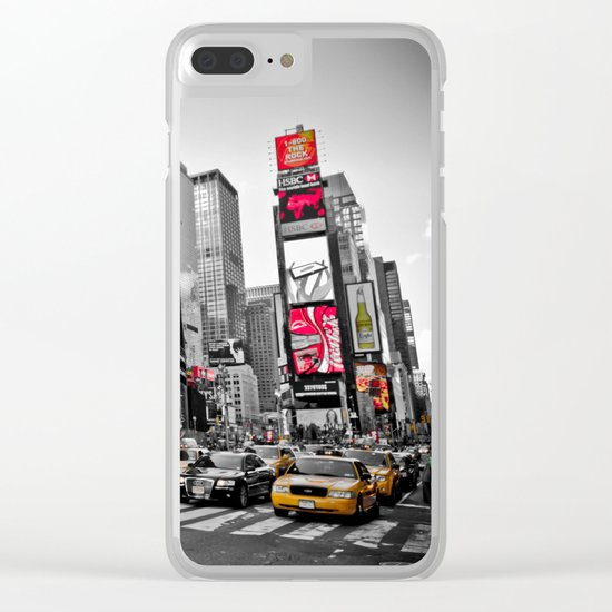 Times Square - Hyper Drop Clear iPhone Case