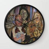 oz Wall Clocks featuring OZ  by Robert E. Richards