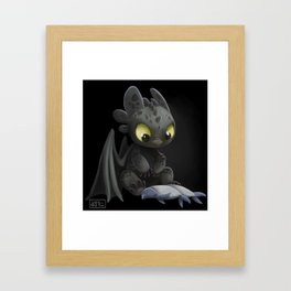Toothless #2 Framed Art Print
