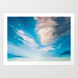 cloudy evening sky study Art Print