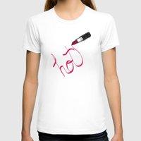 lipstick T-shirts featuring Lipstick by Addison Karl