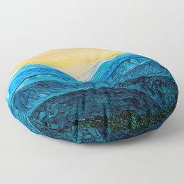 Blue Ridge Mountain Sunset Floor Pillow