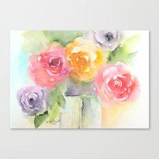 Soft Bouquet Canvas Print