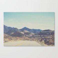 wanderlust ... Canvas Print