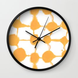 Connect Dots Yellow Wall Clock
