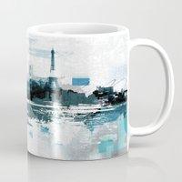 skyline Mugs featuring Skyline by girardin27