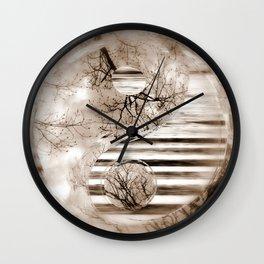 Yin Yang softness and sepia Wall Clock