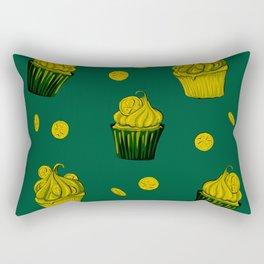 Retro Vintage St Patricks Day Green Luck Gift Coins Rectangular Pillow