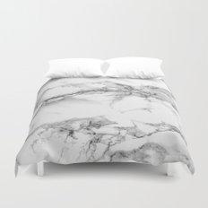 Marble - Gray Duvet Cover