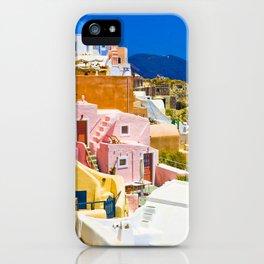 Colorful Santorini iPhone Case