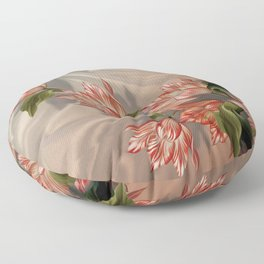 """""""Coral flowers on white silk"""" (Air Spring) Floor Pillow"""