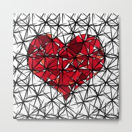 Barbed heart. Metal Print