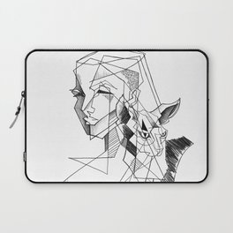 cat and his girl Laptop Sleeve