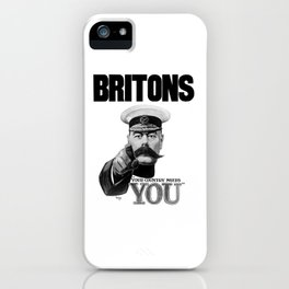 Britons Your Country Needs You - Lord Kitchener iPhone Case