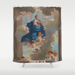 Poussin -the assumption of the virgin Shower Curtain