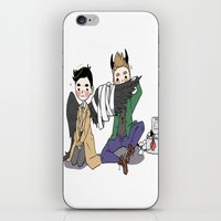 destiel iPhone & iPod Skins featuring Holy Hell Destiel - SPN by venuscas