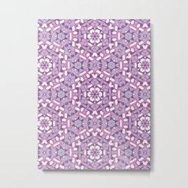 Purple Brushstrokes Geometric Metal Print