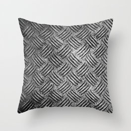 steel diamond plate texture Throw Pillow