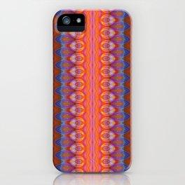 Vibrant blue and orange pattern iPhone Case