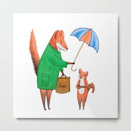 Fox friends Metal Print
