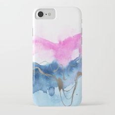 Abstract Watercolor Pink Blue iPhone 7 Slim Case