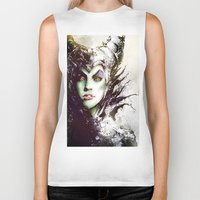 maleficent Biker Tanks featuring Maleficent by Vincent Vernacatola