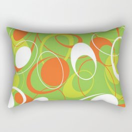 Mid Century Modern, Vintage Pattern Rectangular Pillow