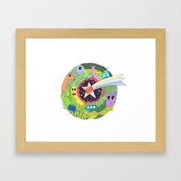 Friends and star Framed Art Print