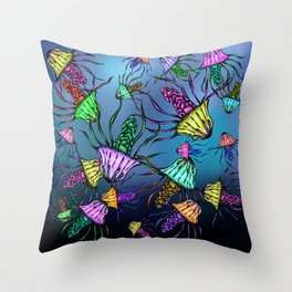 Stinging Party Throw Pillow