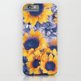 Sunflowers Blue iPhone Case