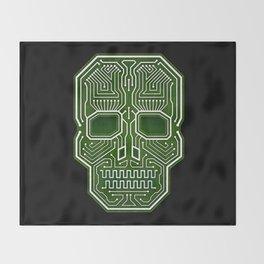 Skull Hacker (isolated version) Throw Blanket
