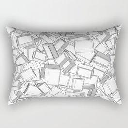 The Book Pile II Rectangular Pillow