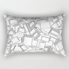 The Book Pile II Rectangular Pillow