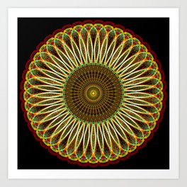 Sunflower Mandala Art Print