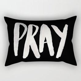 Pray Typography II Rectangular Pillow