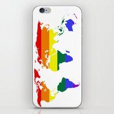 LGBT World (Gay Pride Flag) iPhone & iPod Skin