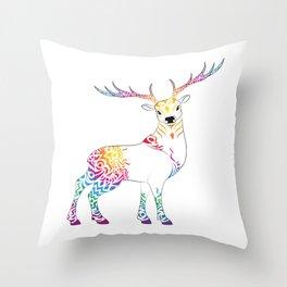 spiritdeer Throw Pillow
