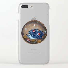 Magical Autumn Hedgehog With Forest Treasures Clear iPhone Case