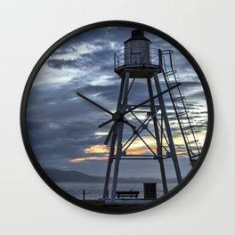 Evening Skies At Silloth Wall Clock