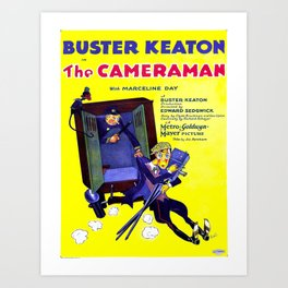 Vintage poster - The Cameraman Art Print