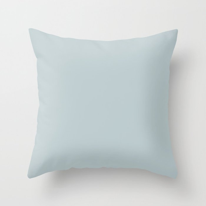 Ultra Light Pastel Blue Solid Color Pairs with Sherwin Williams 2020 Forecast Colors Sleepy Blue Throw Pillow